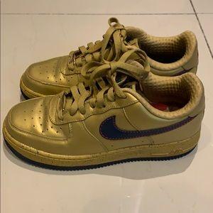 Af1 Nike Air Force 1 gold 6.5 Charles Barkley